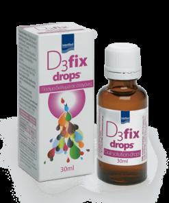 Intermed D3 Fix Drops 30ml, βιταμίνη D, d-3, συμπλήρωμα, σταγόνες, έλλειψη, φαρμακείο