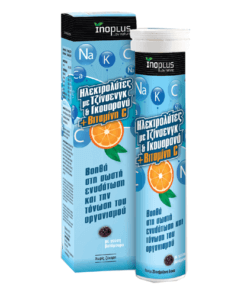InoPlus Electrolytes Ginseng Guarana Vitamin C 20 eff tabs, ηλεκτρολύτες, αναβράζον, συμπλήρωμα, δισκία, αφυδάτωση, ενέργεια, φαρμακείο