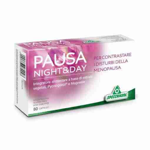 Specchiasol Pausa night and day 80 caps, εμμηνόπαυση, οιστρογόνα, φυτοθεραπεία, βότανα, φυσική αντιμετώπιση, online φαρμακείο